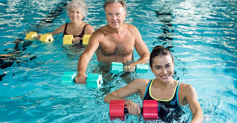 Aquafitness für jedes Alter von Körperströmung aus Dresden